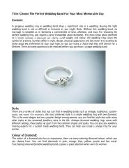 Choose The Perfect Wedding Band For Your Most Memorable Day.pdf