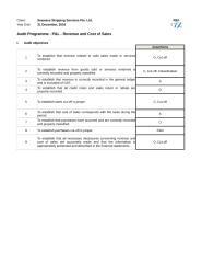 81010 Audit Programme - P&L - Revenue and Cost of Sales.xlsx
