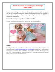 How to Take Care of Your Dog and Your Dog's Basic Needs.pdf