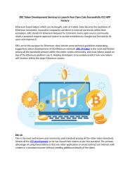 ERC Token Development Services to Launch Your Own Coin Successfully ICO APP Factor1.docx