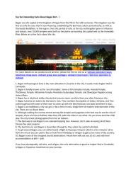 Top Ten Interesting Facts About Bagan Part - I.docx