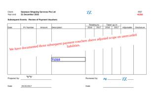 45303 Subsequent Events - Review of Payment Vouchers.xlsx